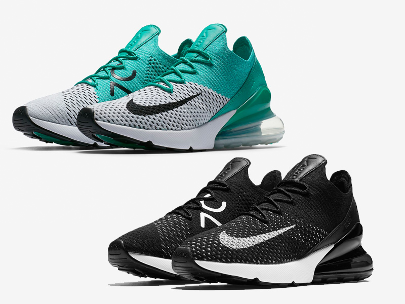 le nike air max 270 flyknit arriva in donne colorways unico