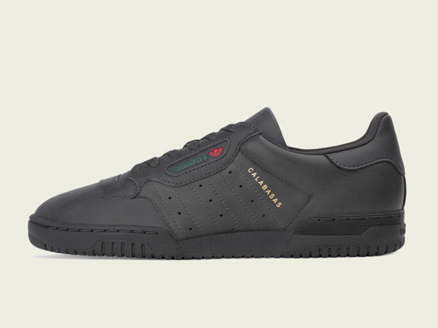 "The adidas Yeezy Powerphase ""Core Black"" is confirmed this weekend"