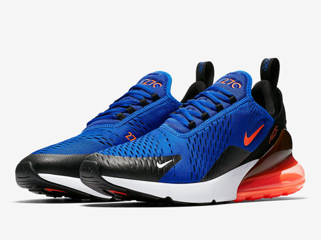 "The Air Max 270 ""Racer Blue"" drops today"