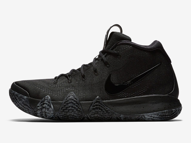The Blackout Kyrie 4s are perfect for the Blacktop