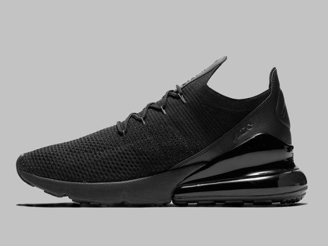 The Nike Air Max 270 Flyknit now comes in Triple Black