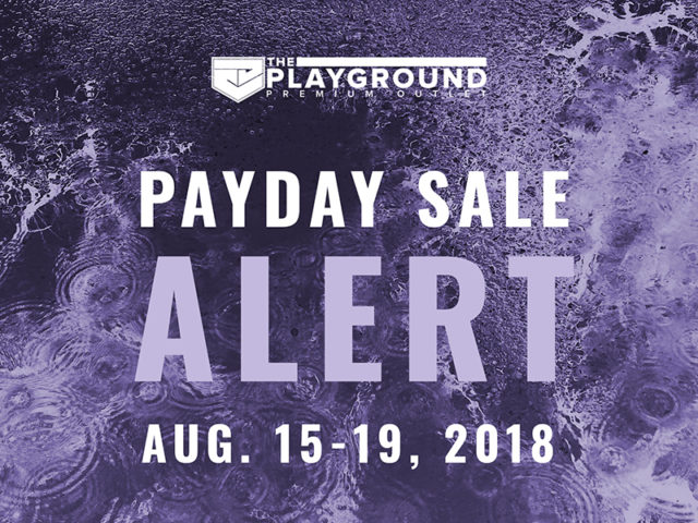 SALE ALERT: Playground's Running a Pay Day Sale Tomorrow