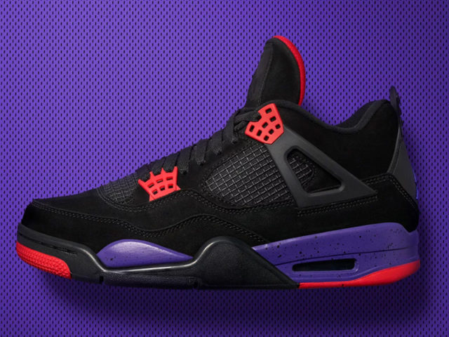 Here's your chance to bring home the Air Jordan 4 Retro 'Raptors'