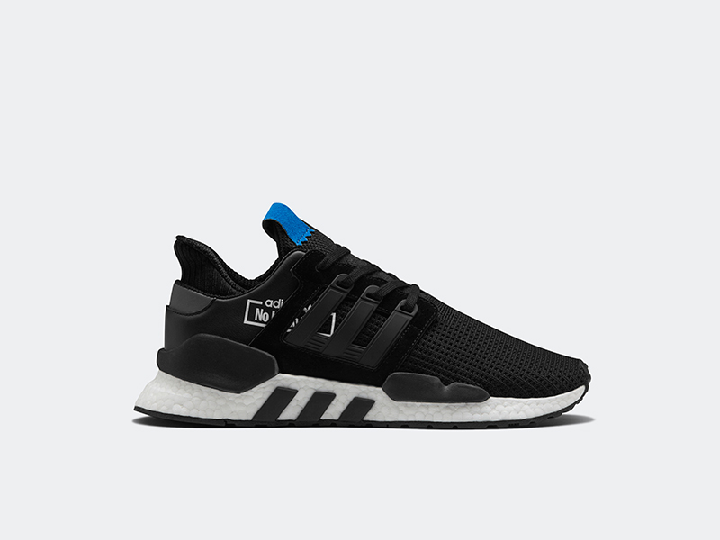 watch 9ff85 1f9be The EQT Support ADV Mid features a sock-fit knitted upper with a woven  stripe pattern. These are reinforced by the overlays and the  compression-molded ...