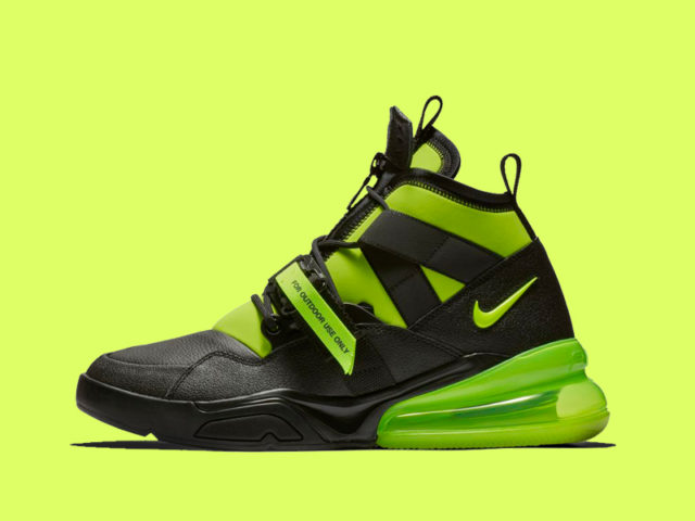 ELECTRIFYING: The Nike Air Force 270 Utility gets a jolt with this Volt colorway