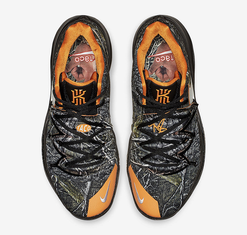 998fea8abc6 Special sockliners complete the special PE, tying Irving and Bennett  together with this magnificent piece. The Nike Kyrie 5 'Taco'PE drops  tomorrow at Titan ...