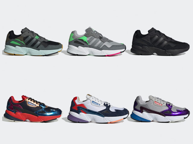 New colorways for the adidas Falcon and YUNG-96 drop tomorrow
