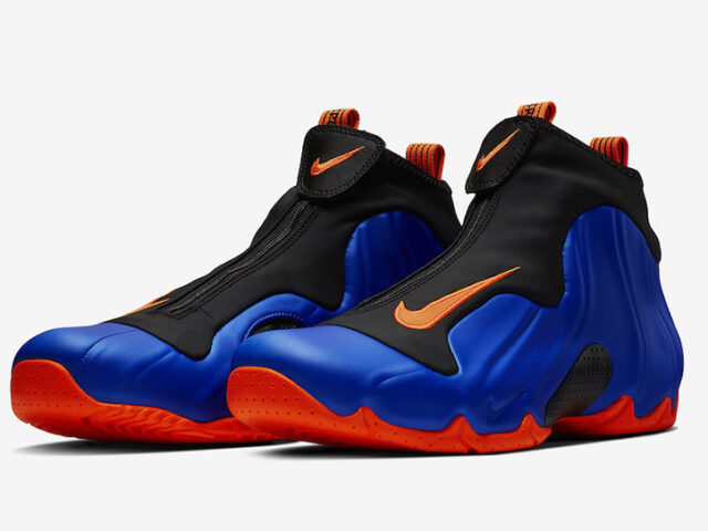 The Nike Air Flightposite 'Knicks' drops today