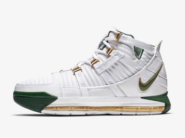 For Akron: Nike re-releases the LeBron 3 'St.Vincent-St. Mary Home' colorway