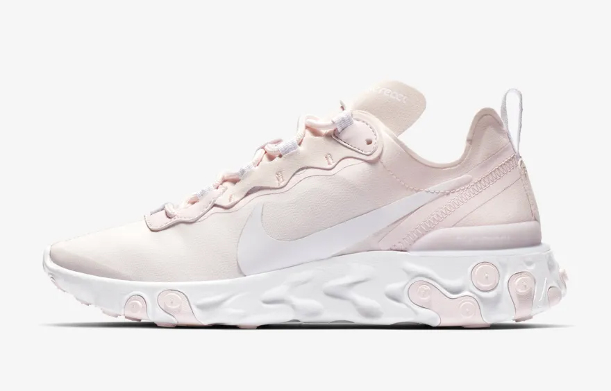 cd0e69e811aec ... Women s React Element 55  Pale Pink White Pale Pink White  –  Capital Sole Academy The Athlete s Foot
