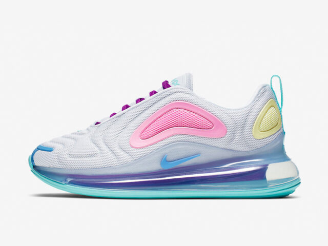 The Nike Wmns Air Max 720 comes in a colorful colorway