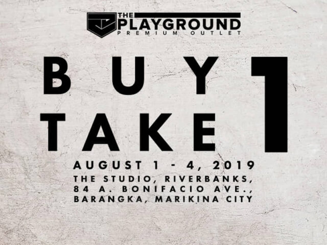 SALE ALERT: The Playground's Buy 1 Take 1 Sale is happening this weekend