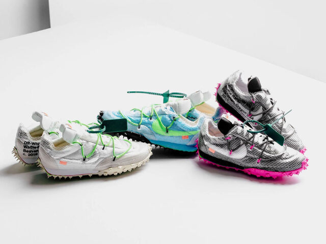You can still score the Nike x Off-White Waffle Racer